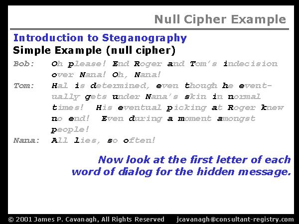 Null Cipher Example